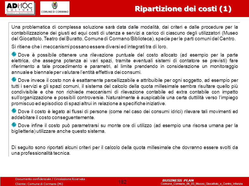 Ripartizione dei costi (1)