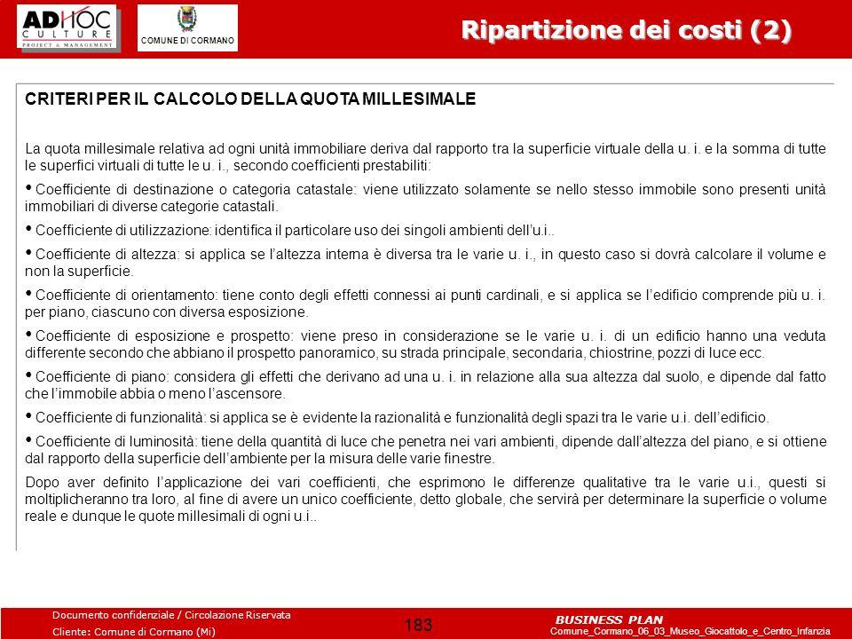 Ripartizione dei costi (2)