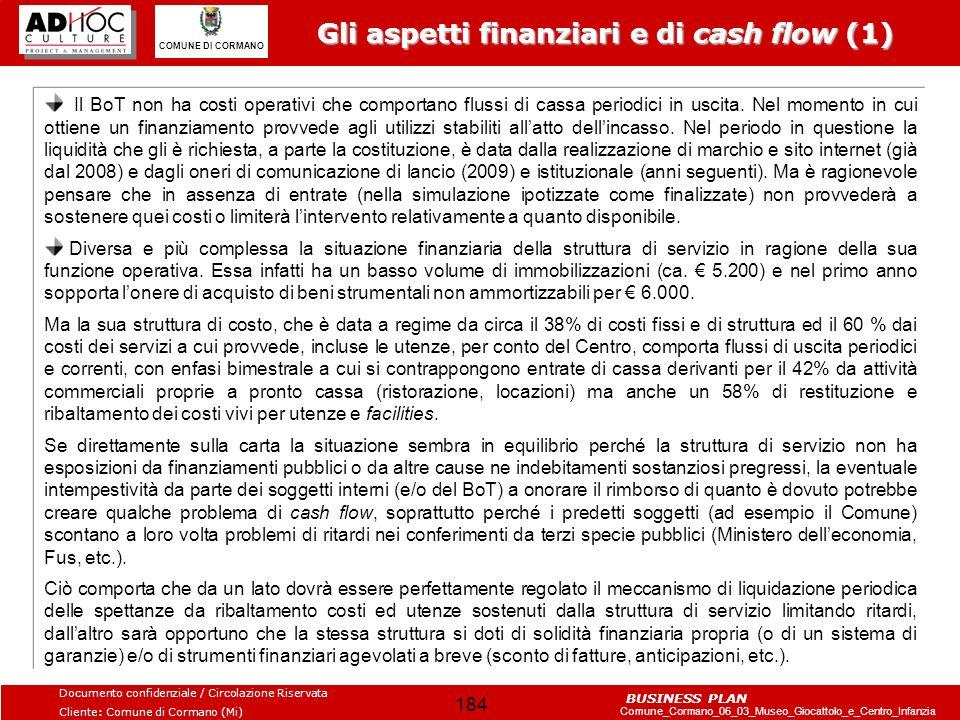 Gli aspetti finanziari e di cash flow (1)
