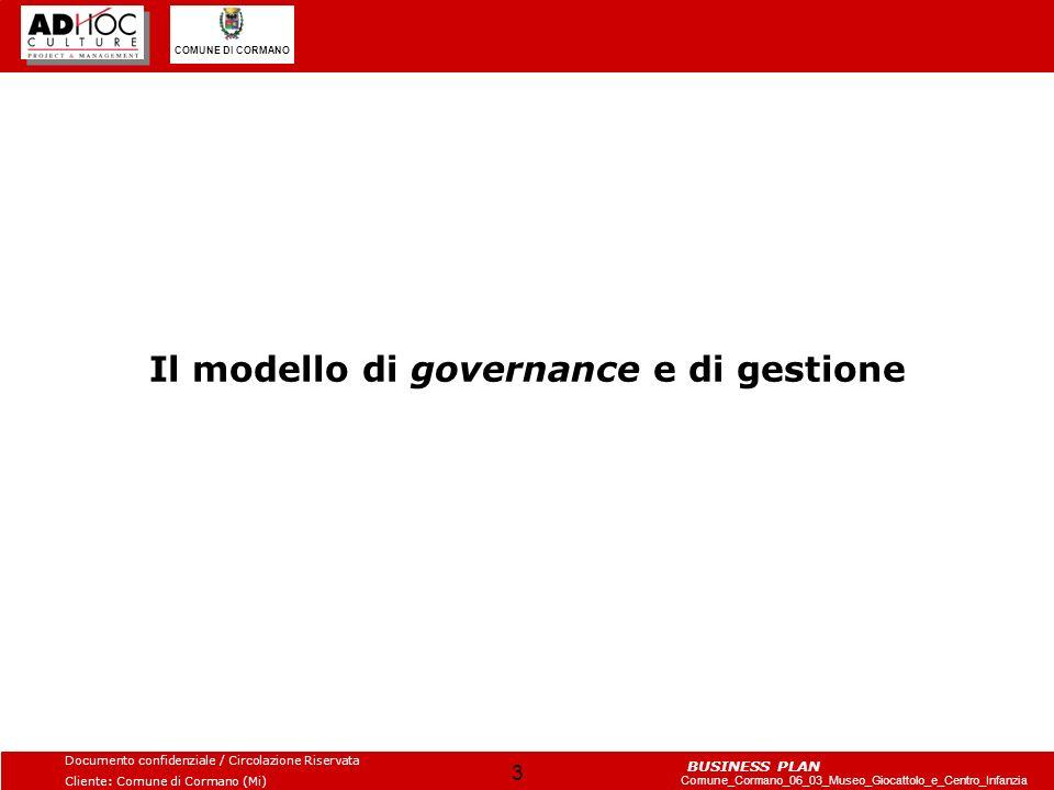 Il modello di governance e di gestione