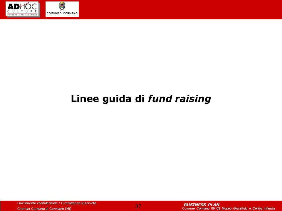 Linee guida di fund raising