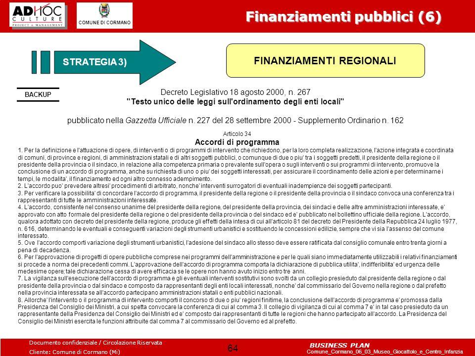 Finanziamenti pubblici (6)