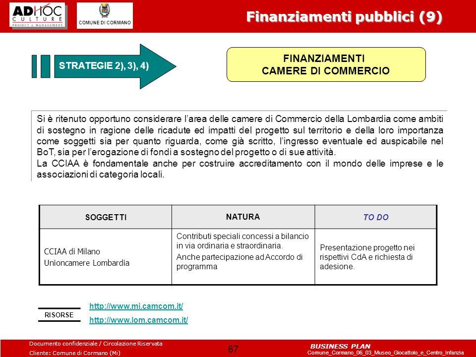 FINANZIAMENTI CAMERE DI COMMERCIO