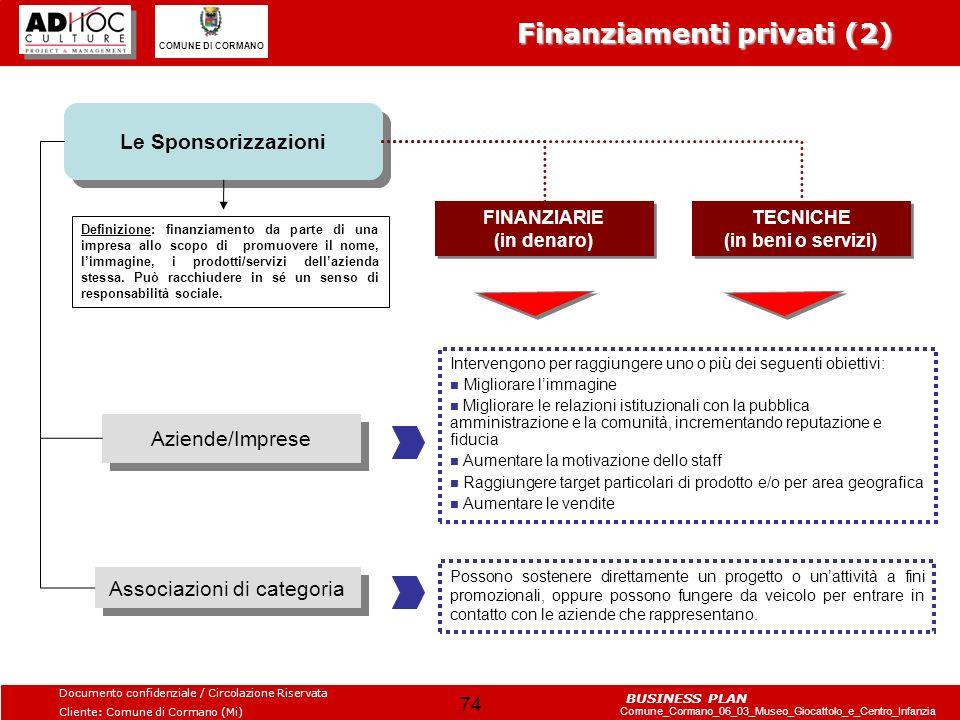 FINANZIARIE (in denaro) TECNICHE (in beni o servizi)