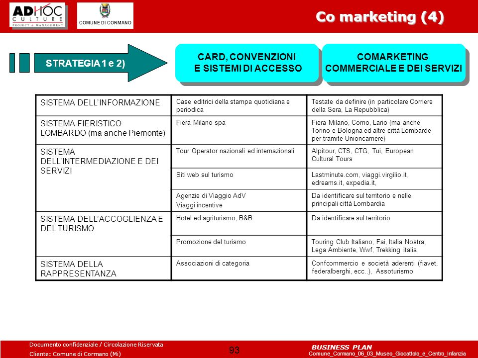 Co marketing (4) STRATEGIA 1 e 2)