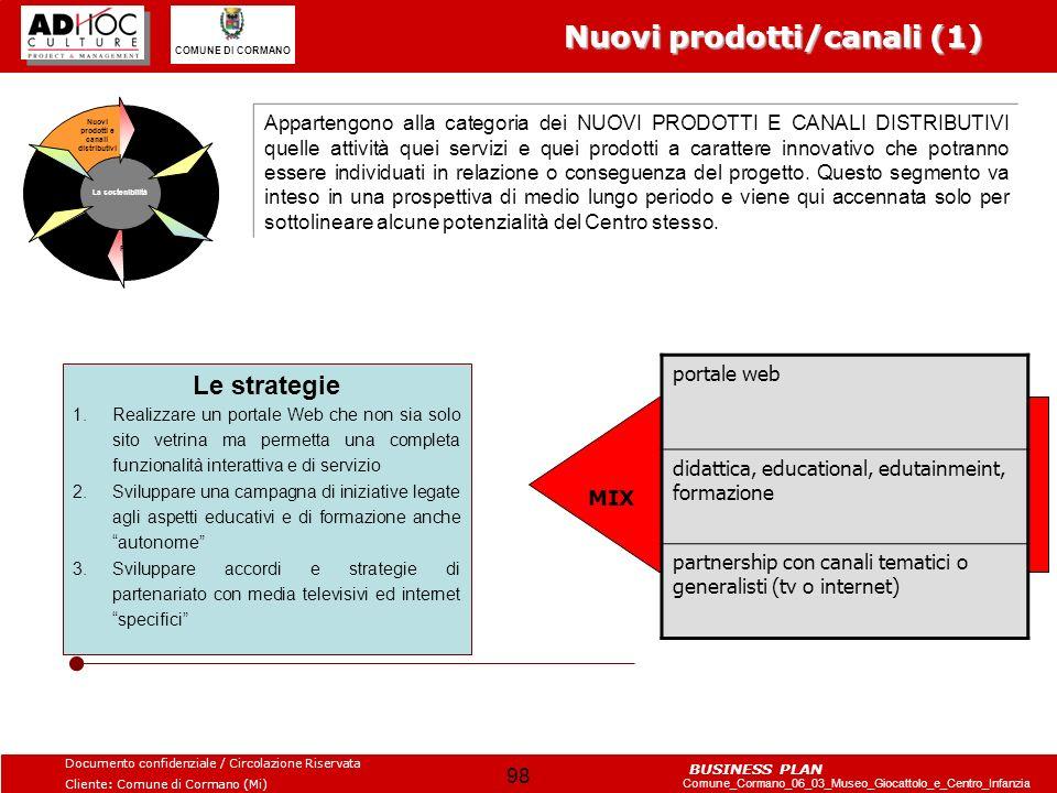 Nuovi prodotti/canali (1)