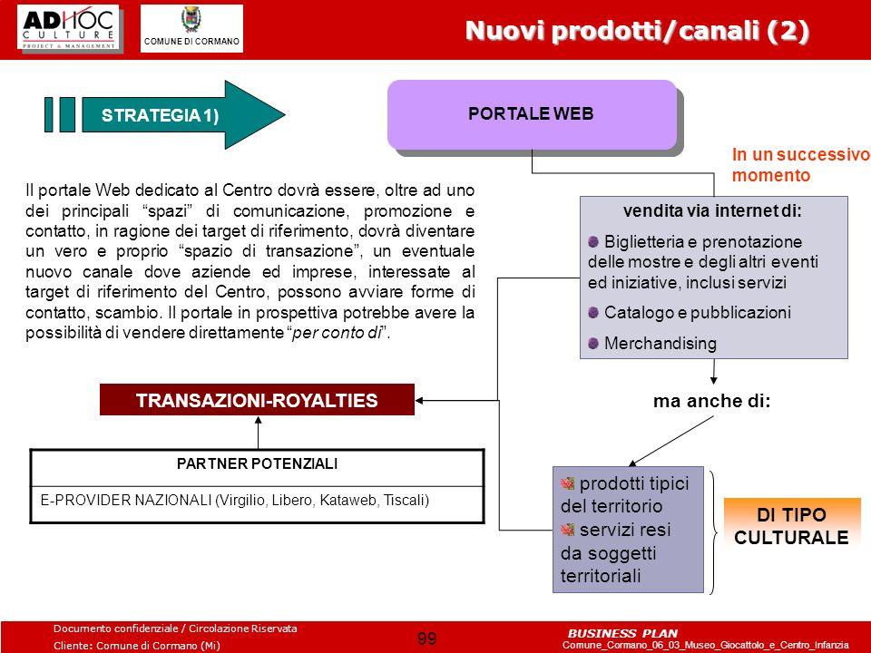 vendita via internet di: TRANSAZIONI-ROYALTIES