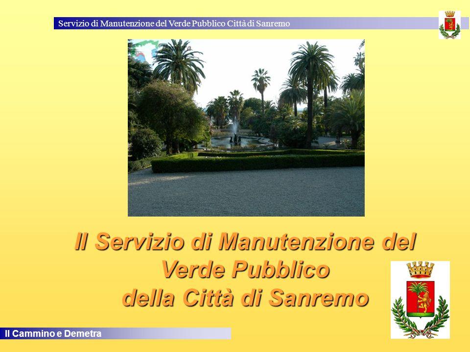Il Servizio di Manutenzione del Verde Pubblico della Città di Sanremo