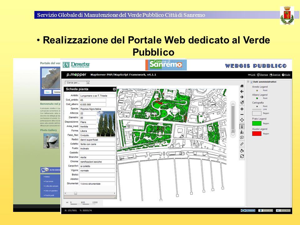 Realizzazione del Portale Web dedicato al Verde Pubblico