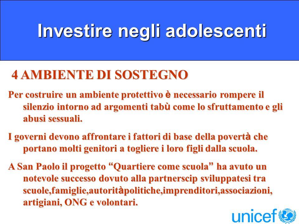 Investire negli adolescenti
