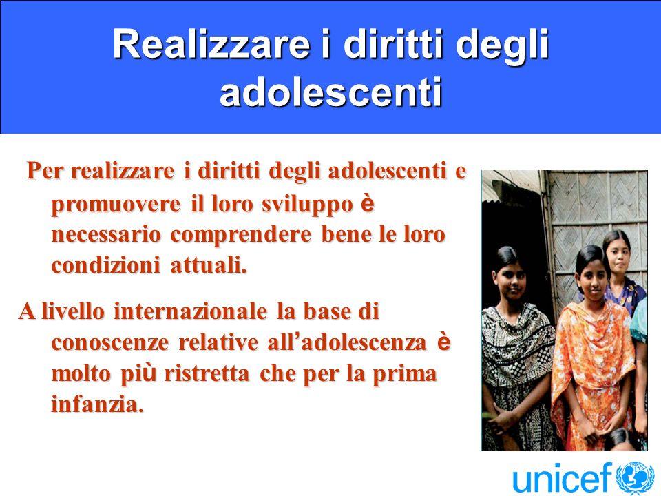 Realizzare i diritti degli adolescenti