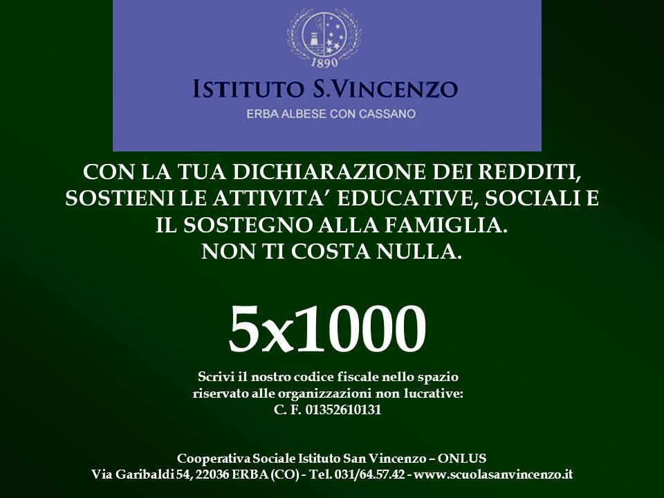5x1000 CON LA TUA DICHIARAZIONE DEI REDDITI,