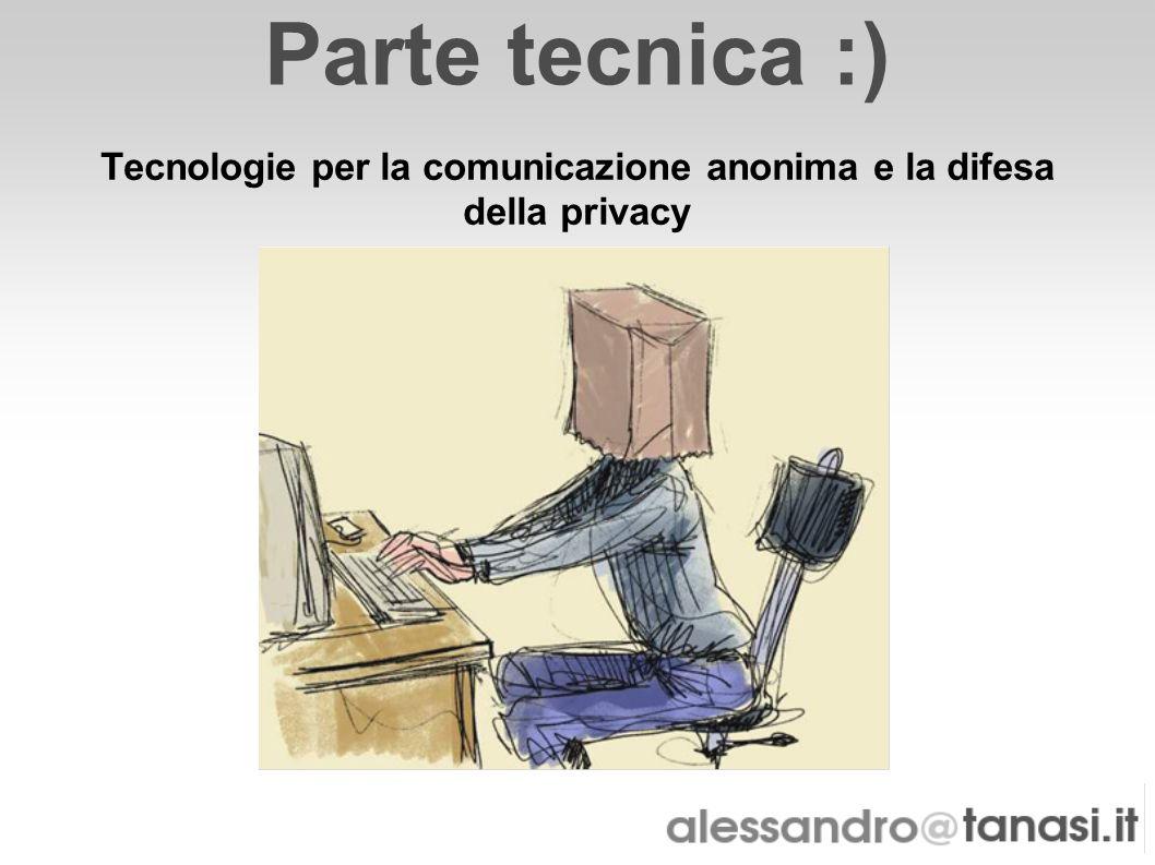 Tecnologie per la comunicazione anonima e la difesa della privacy