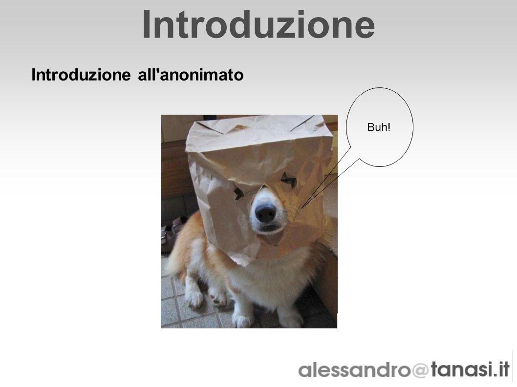 Introduzione Introduzione all anonimato Buh!