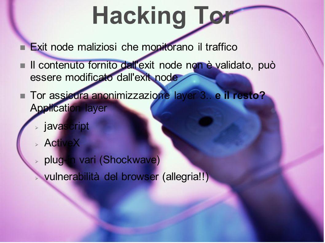 Hacking Tor Exit node maliziosi che monitorano il traffico