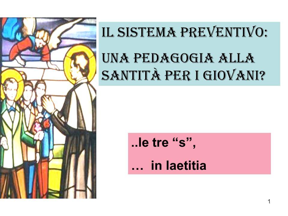 Il sistema preventivo: una pedagogia alla santità per i giovani