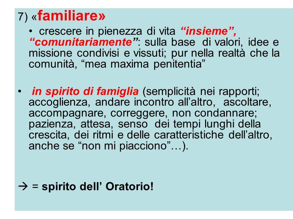 7) «familiare»