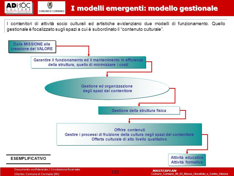 I modelli emergenti: modello gestionale