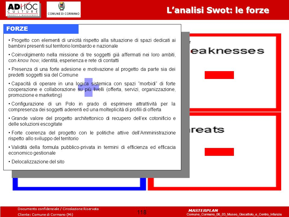 L'analisi Swot: le forze
