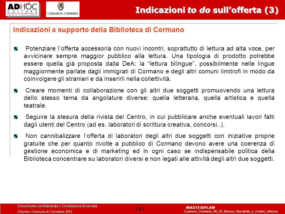 Indicazioni to do sull'offerta (3)
