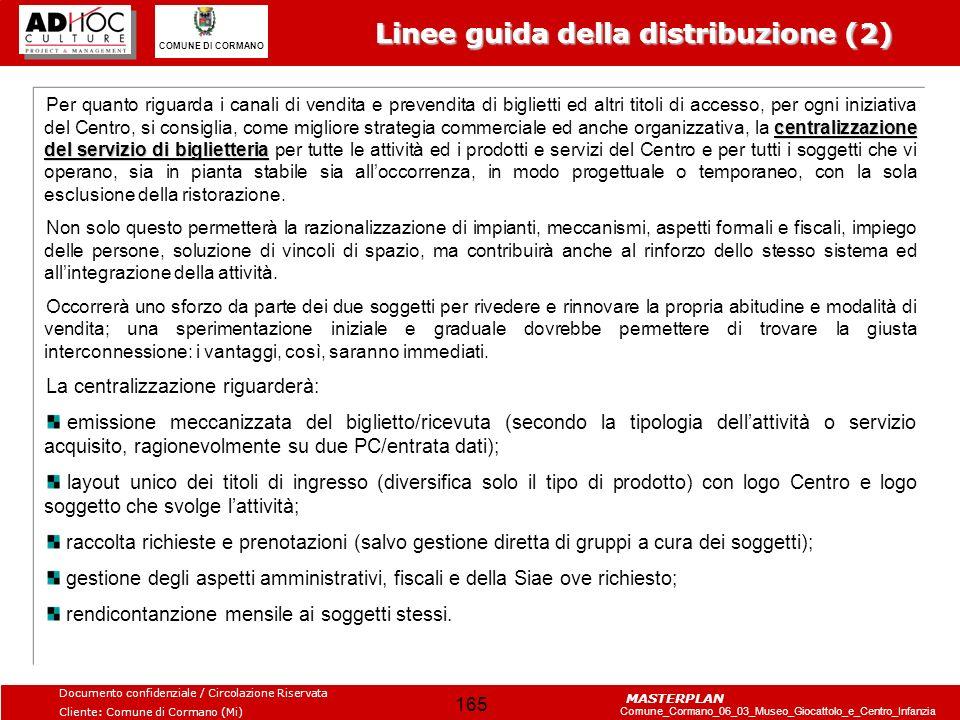 Linee guida della distribuzione (2)
