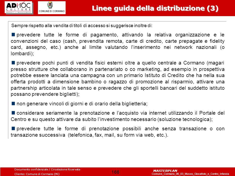 Linee guida della distribuzione (3)