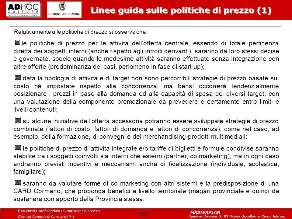 Linee guida sulle politiche di prezzo (1)