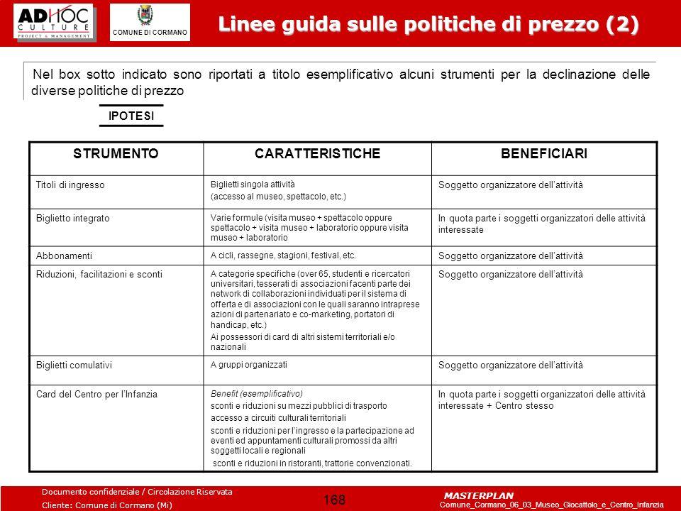 Linee guida sulle politiche di prezzo (2)
