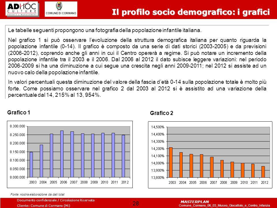 Il profilo socio demografico: i grafici