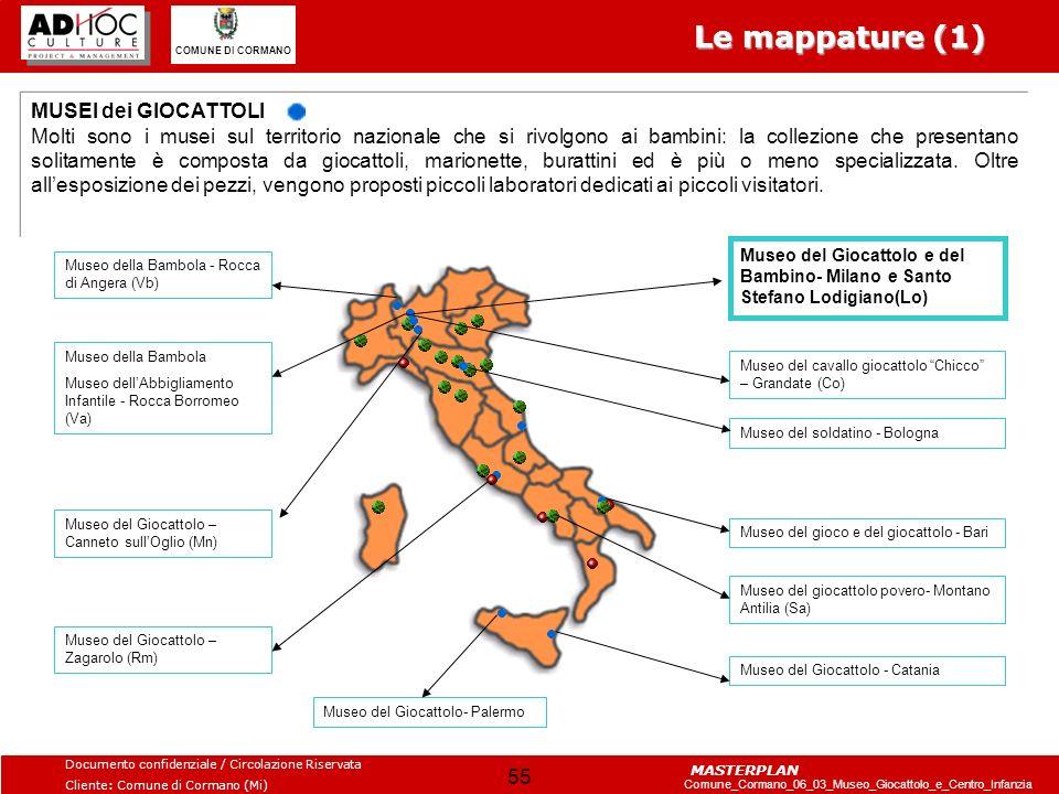 Le mappature (1) MUSEI dei GIOCATTOLI