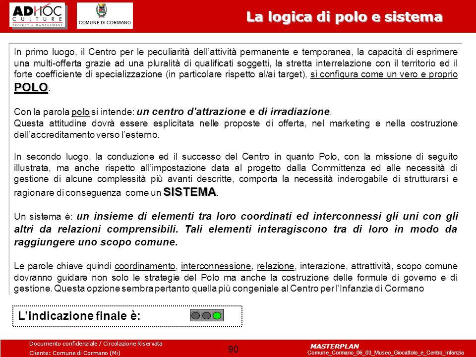 La logica di polo e sistema