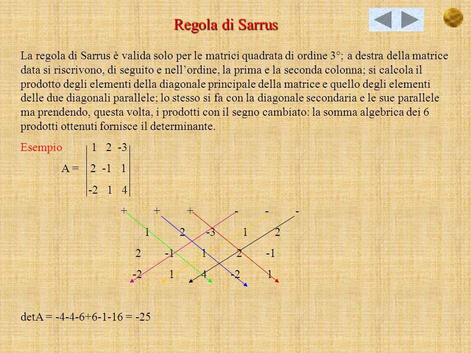 Regola di Sarrus