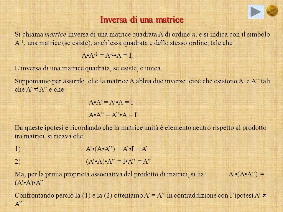 Inversa di una matrice