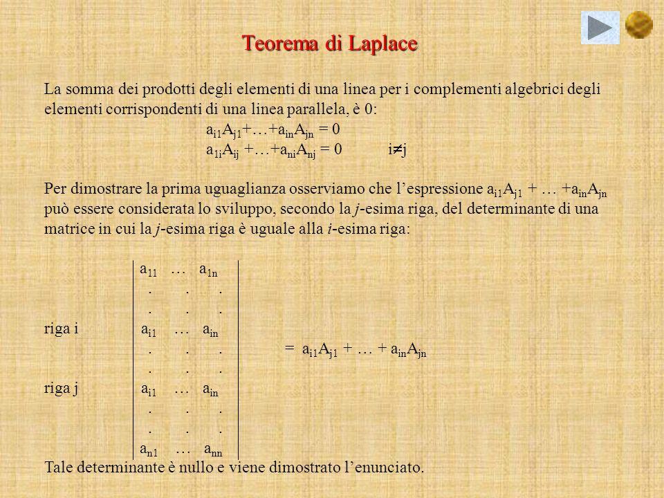 Teorema di Laplace