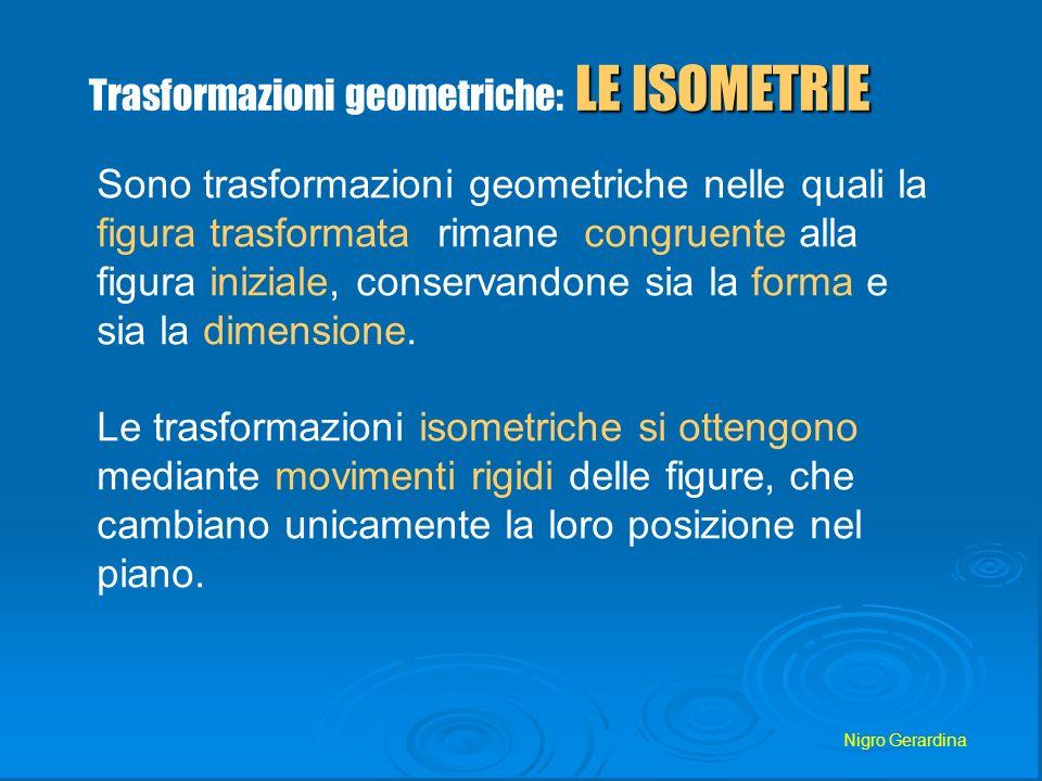 Trasformazioni geometriche: LE ISOMETRIE