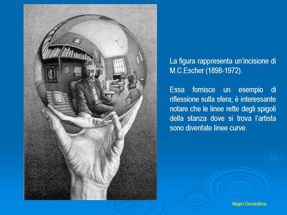 La figura rappresenta un'incisione di M.C.Escher (1898-1972).