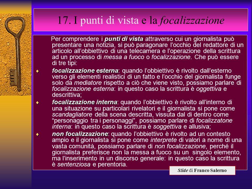 17. I punti di vista e la focalizzazione