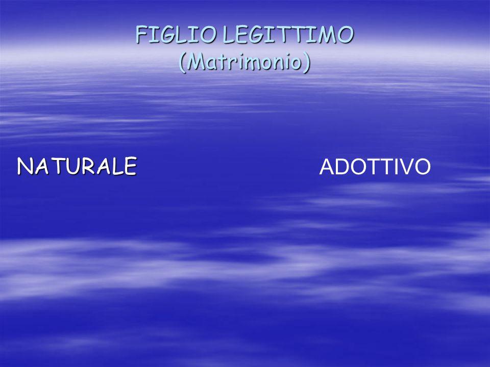 FIGLIO LEGITTIMO (Matrimonio)