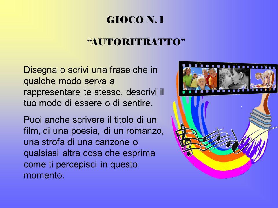 GIOCO N. 1 AUTORITRATTO