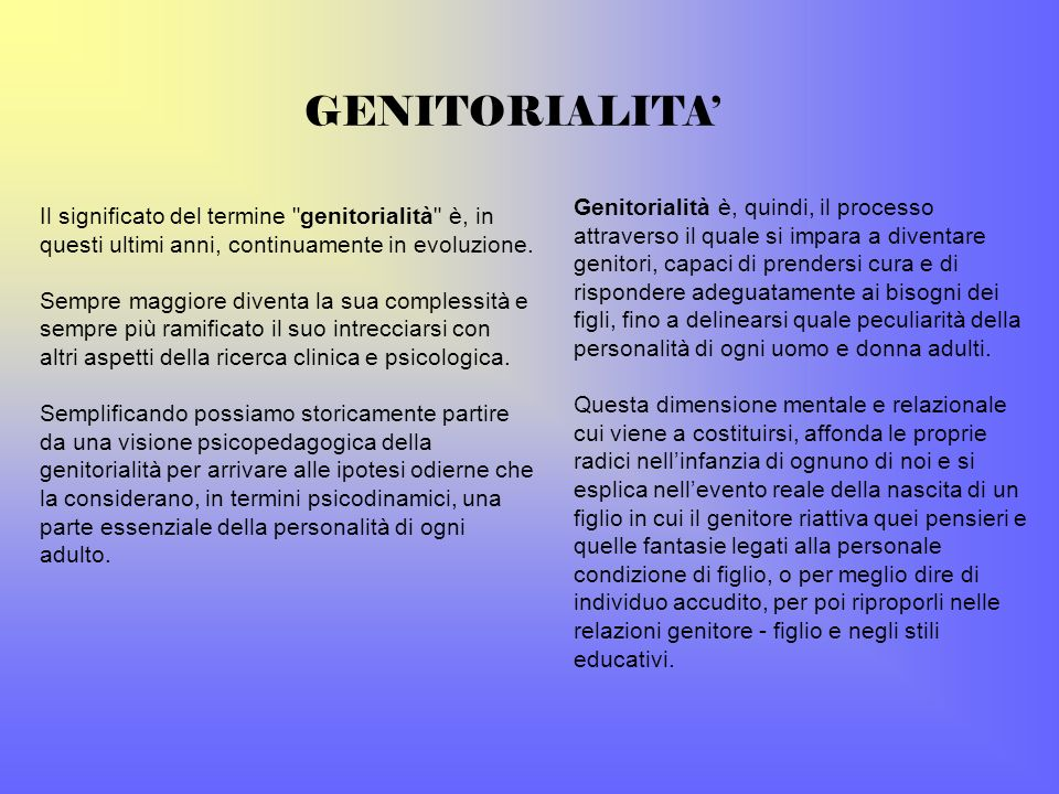 GENITORIALITA'