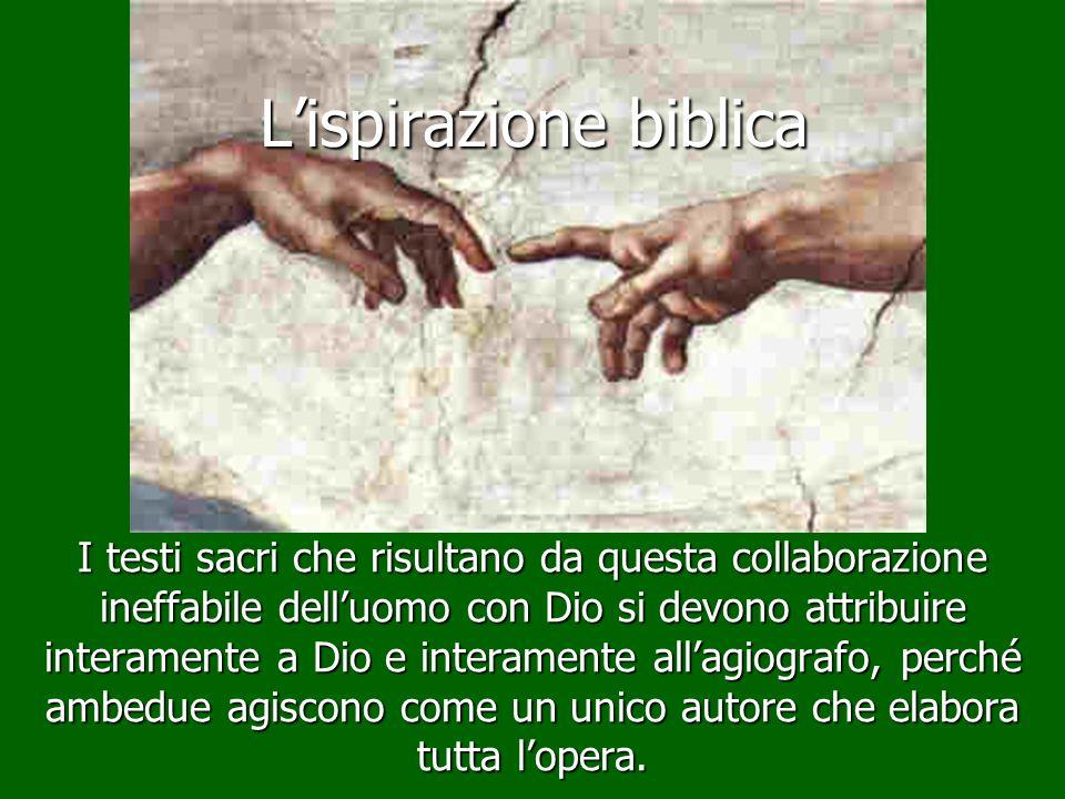 L'ispirazione biblica