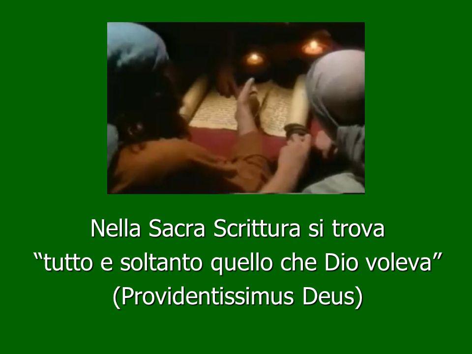 Nella Sacra Scrittura si trova