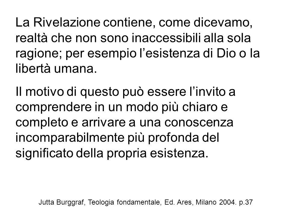 Jutta Burggraf, Teologia fondamentale, Ed. Ares, Milano 2004. p.37