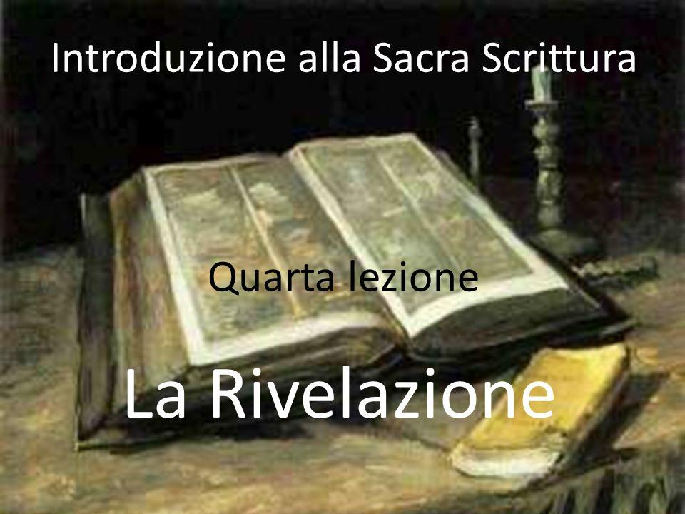 Introduzione alla Sacra Scrittura Quarta lezione