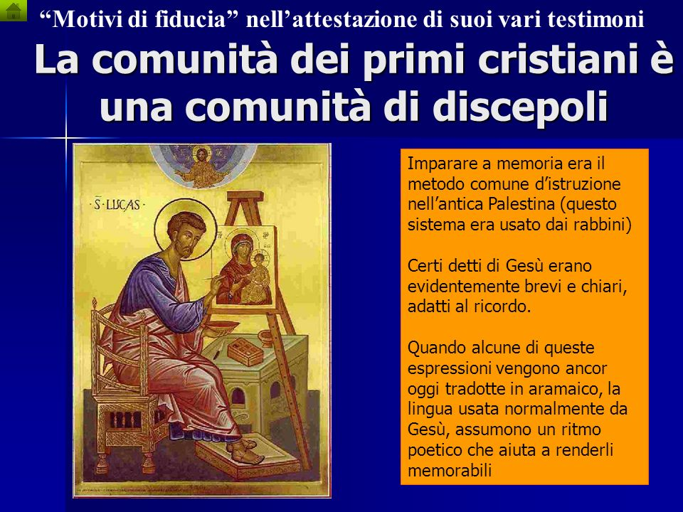 La comunità dei primi cristiani è una comunità di discepoli