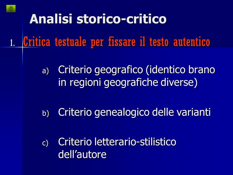 Analisi storico-critico