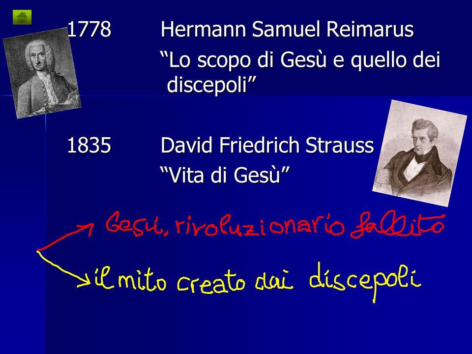 1778 Hermann Samuel Reimarus
