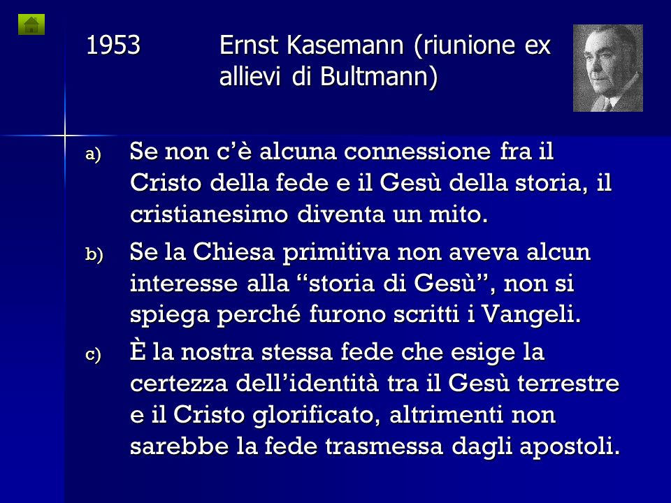 1953 Ernst Kasemann (riunione ex allievi di Bultmann)