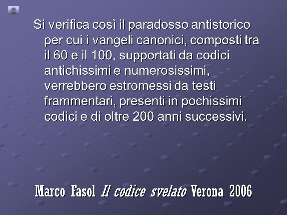 Marco Fasol Il codice svelato Verona 2006