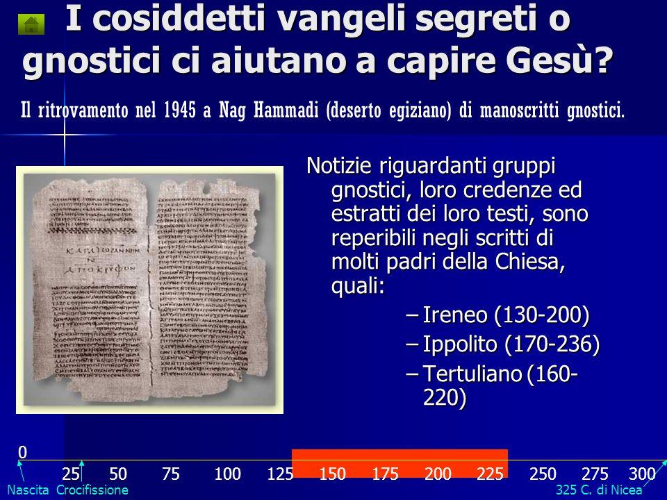 I cosiddetti vangeli segreti o gnostici ci aiutano a capire Gesù